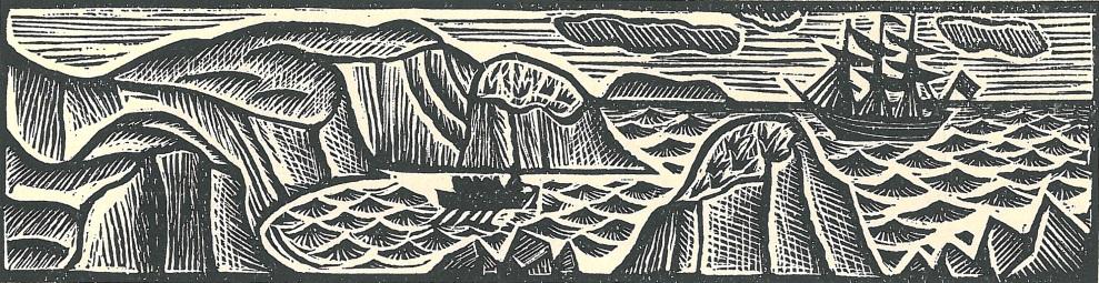 Swift, Gulliver's travels, illustrated by David Jones. © David Jones Estate